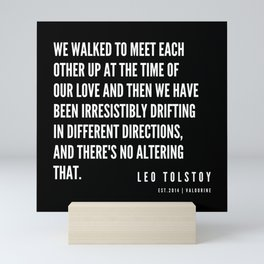 75  | Leo Tolstoy Quotes | 190608 Mini Art Print