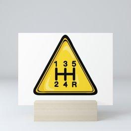 Warning 5speed Mini Art Print