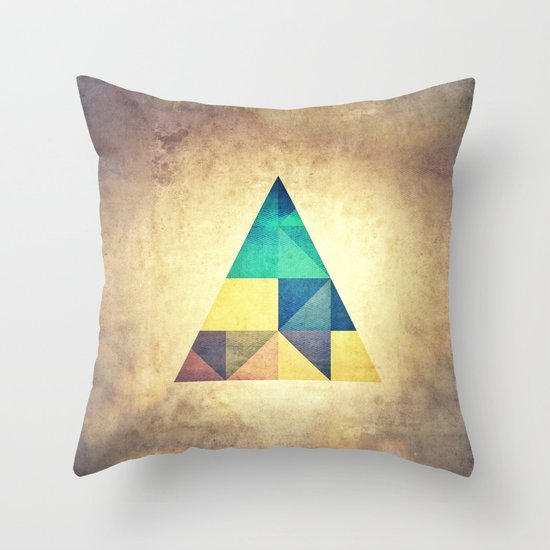 ancyynt gyomytry Throw Pillow