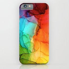 Rainbow Ink Painting iPhone Case