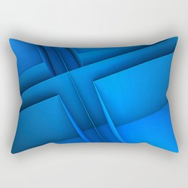 Clean Lines (Blue) Rectangular Pillow