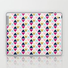 Triangle Geometry, Gold, Navy blue and Pink Laptop & iPad Skin