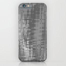 Grey Wavelengths iPhone Case