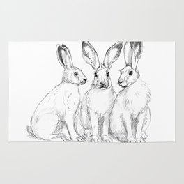 Three Hares sk131 Rug