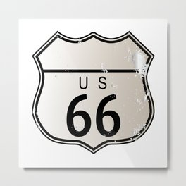 Blank Route 66 Sign Metal Print