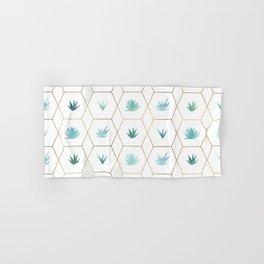 Geometric Succulents Hand & Bath Towel