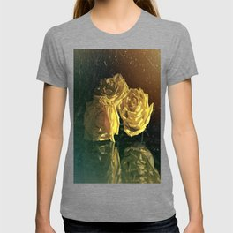 Yellow Vintage Roses T-shirt