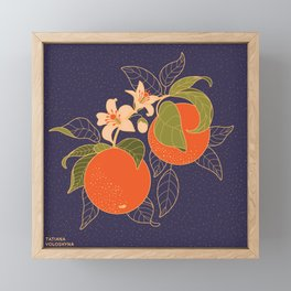 Orange Branch Framed Mini Art Print