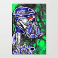 neon Soldier v1 Canvas Print