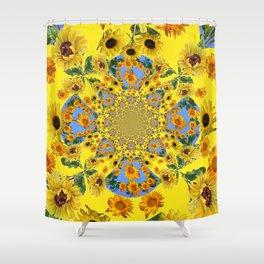 YELLOW SUNFLOWERS STORY BOOK Shower Curtain