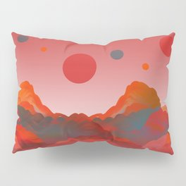 """Coral Pink Sci-Fi Mountains"" Pillow Sham"