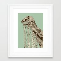 dino Framed Art Prints featuring dino by lille-lle