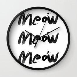 Meow Meow Meow 2 Wall Clock