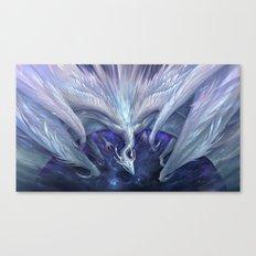 White Crystal Dragon Canvas Print