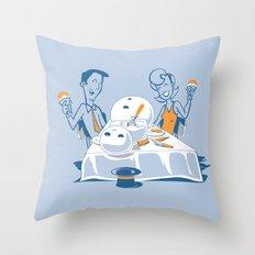 Neighbors Ate My Snowman Throw Pillow