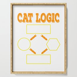 Having difficulty in deciding when it comes to cats? That's Cat Logic! Grab this awesome tee now! Serving Tray