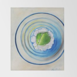 Limeade In A Blue Glass Throw Blanket