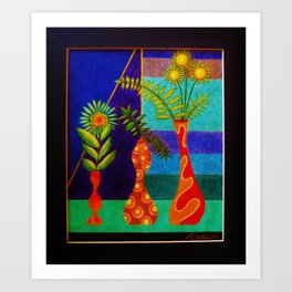 More Groovy Vases by Anthony Davais Art Print