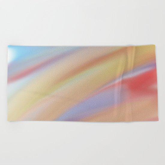 Watercolorful Flow Beach Towel