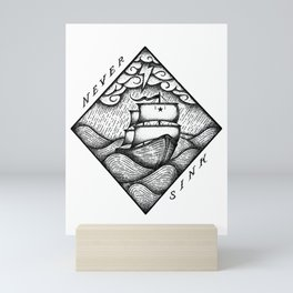 NEVER SINK Mini Art Print