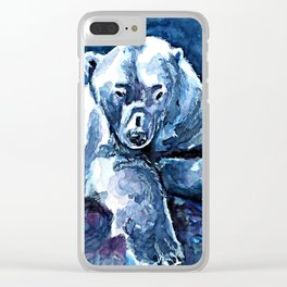 Polar Bear Clear iPhone Case