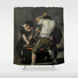 "Francisco Goya ""La Fragua (The Forge)"" Shower Curtain"