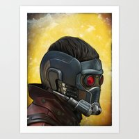 starlord Art Prints featuring Starlord by Jimmy Breen