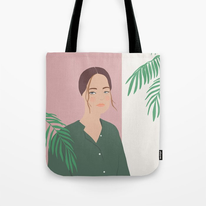 Summer Breeze, girly, fashion illustration, illustration, aloha, summer, tropical, hawaiian art Tote Bag