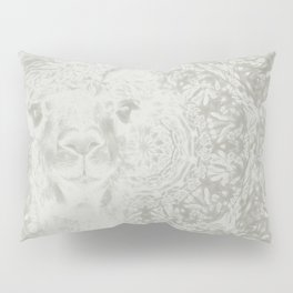 Ghostly alpaca and mandala Pillow Sham