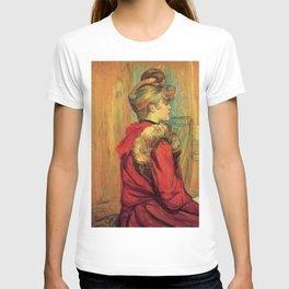 "Henri de Toulouse-Lautrec ""Girl in a Fur (Miss Jeanne Fountain)"" T-shirt"