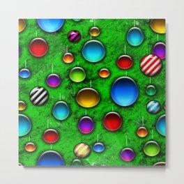 Vivid Glass Orbs Christmas Tree Metal Print