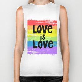 Love is love over the rainbow Biker Tank