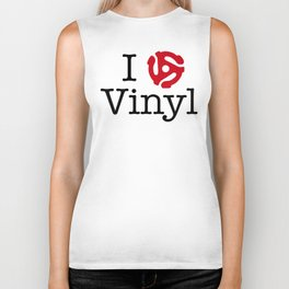I Love Vinyl featuring 45 Insert Biker Tank