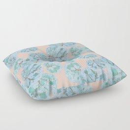 Tropical Sea Grape Leaves Floor Pillow