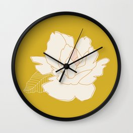 Outline Floral No. 1 Wall Clock