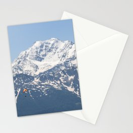 Swiss Alps and Paraglider Stationery Cards