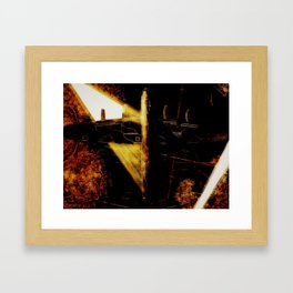 Searchlights over the Ruhr Framed Art Print