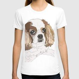 Blenheim cavalier king charles spaniel dog T-shirt