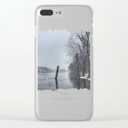 Snowy Rock River Clear iPhone Case