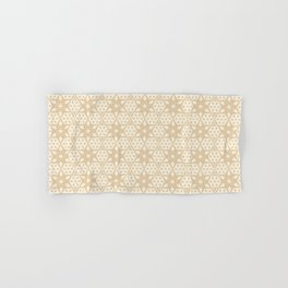 Stars and Hexagons Pattern - Sahara Sand Hand & Bath Towel