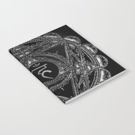 Black and White Throat Chakra Notebook