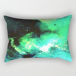 Green Nebula Rectangular Pillow