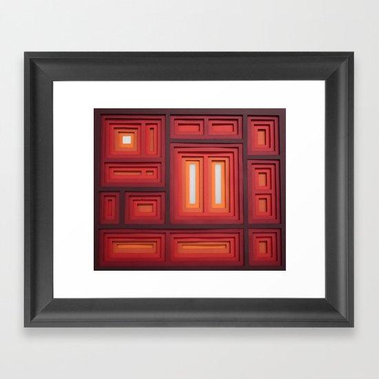 Inside/Outside Framed Art Print
