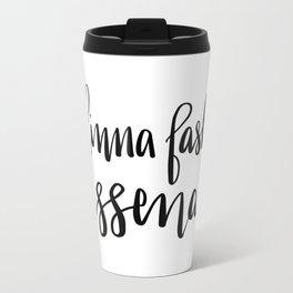 Dinna Fash Sassenach - Outlander Inspired Hand Lettering Travel Mug