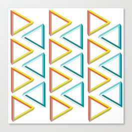 Impossible triangles geeky pattern. Canvas Print
