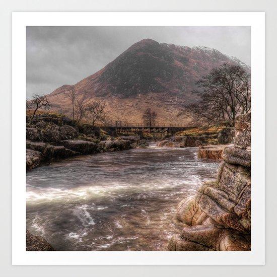 Bridge over the River Etive Art Print