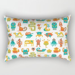 Colorful monster pattern Rectangular Pillow