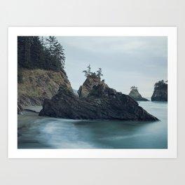 Sunset at Secret Beach Art Print