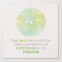 looking for alaska Canvas Prints featuring Looking For Alaska: Labyrinth by lsmyang