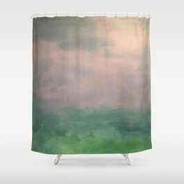 Valley of Dreams - Abstract nature Shower Curtain